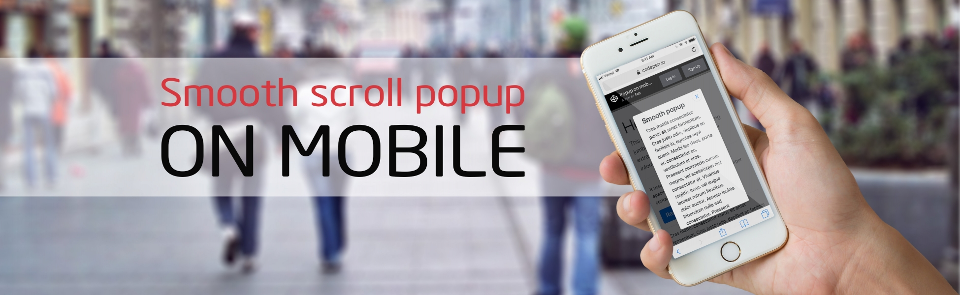 Smooth scroll popup on mobile | Lil Engine